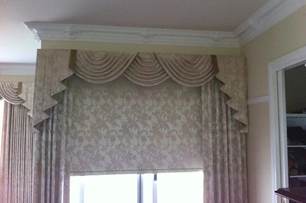 With matching side curtains and a bonded holland Blind