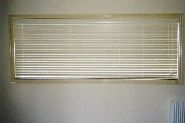 Recessed and in the closed position Blinds