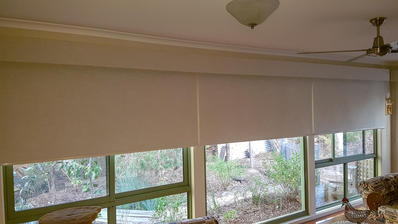 Blockout Roller blinds with Pelmets