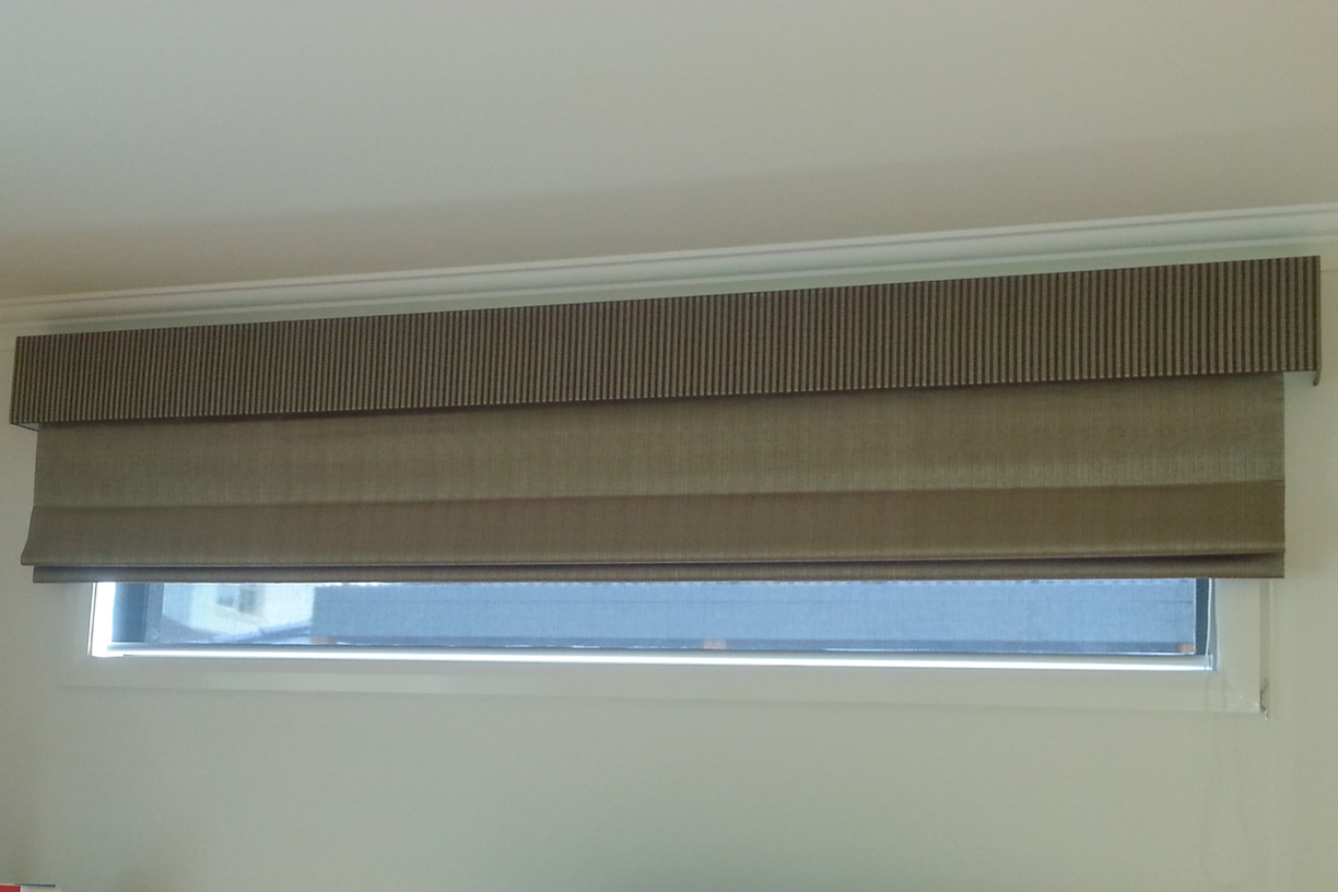 Soft Roman blind with Pelmet