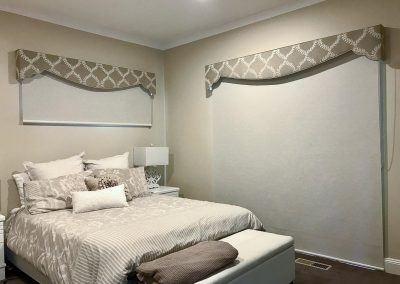 Roller Blind with Decorative Pelmet