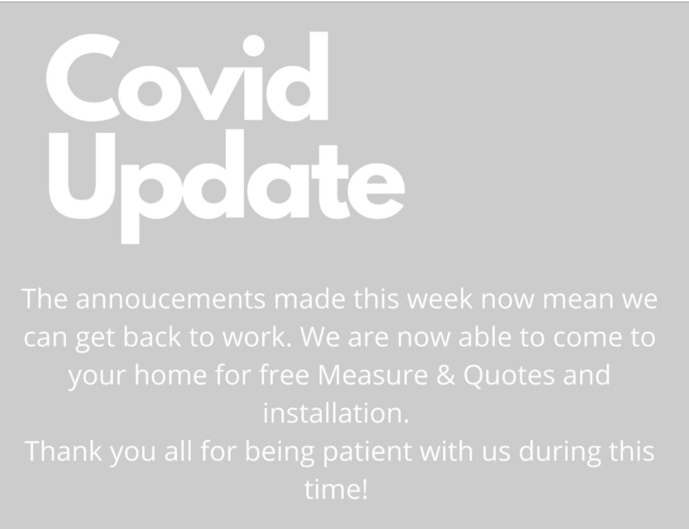 COVID Update from Spectrum Curtains and Blinds